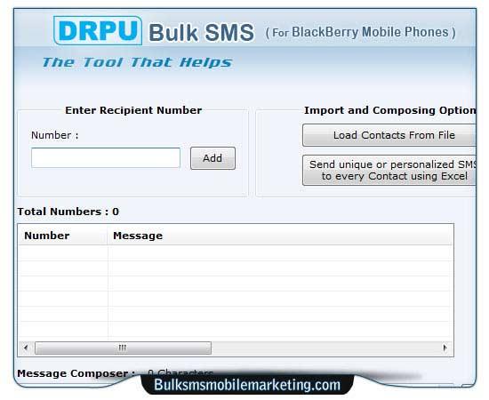 Bulk SMS Marketing Software Blackberry