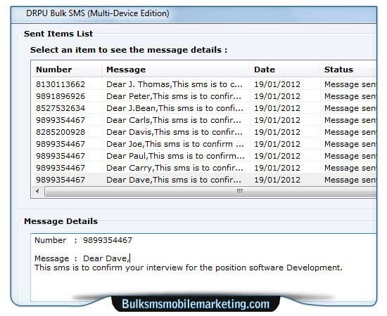 Screenshot of SMS Marketing GSM Mobile